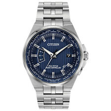 New Citizen Eco-Drive World Perpetual A-T Stainless Steel Watch CB0160-51L