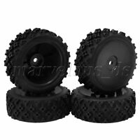 4PCS Plastic Closed Wheel Rims and Rally Tire for RC1:10 On Road Rally Car