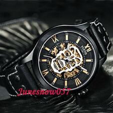 Parnis 45mm skull dial PVD case Sapphire Glass MIYOTA Automatic mens Watch 572