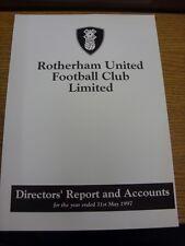 31/05/1997 Rotherham United Football Club: directores informe y cuentas para el