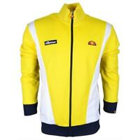 Ellesse Mens Track Top Jacket Full Zip Vilas Panel Yellow White RRP £70 New