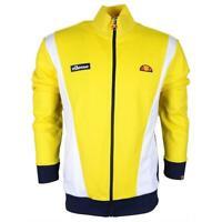 Ellesse Mens Track Top Jacket Full Zip Vilas Panel Yellow White RRP £70 New
