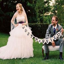 Just Married Girlande Banner Hochzeitsauto Ammer westlichen Veranstaltungsort