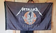 Metallica flag 3 x 5 ft. Hard Wired Flag Man Cave Banner Heavy metal Scary Guy