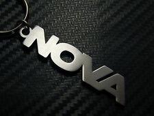NOVA Personalised Name Keyring Keychain Key Fob Bespoke Stainless Steel Gift