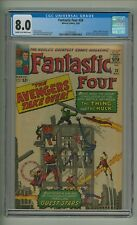 Fantastic Four 26 (CGC 8.0) C-O/W pages; Hulk vs. Thing; Kirby; 1964 (c#19739)