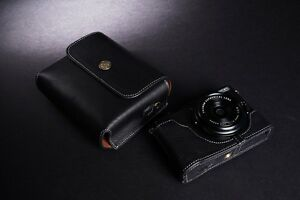 Genuine Real Leather Full Camera Case Bag Cover Pouch for FUJIFILM X70 Black