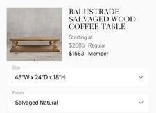 BALUSTRADE SALVAGE WOOD COFFEE TABLE