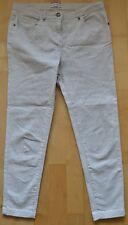 Marks + Spencer Indigo - Beige Leopard Print Cropped Capri Trousers - 8 Med