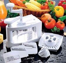 8 in 1 Raw Blend Food Vegetable Slicer Juicer Spiraliser Chopper Multifunction