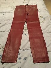 J Brand Oxblood Red Leather Pants - Size 29