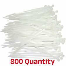 "NEW 800 pcs Quantity 8"" Zip Cable Wire Ties Natural Nylon Fastener cord NEW"