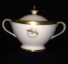ROYAL DOULTON ROYAL GOLD SUGAR BOWL & LID SHAKLEE PRESIDENT'S CLUB GOLD BAND