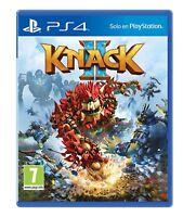 KNACK 2 CD FISICO NUEVO PRECINTADO EN ESPAÑOL CASTELLANO PS4