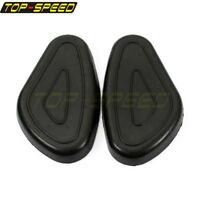 Black Rubber Petrol Fuel Tank Knee Pad Protection Set For BMW R71 R75 KS750 R66