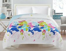 Single/Ksingle Quilted Reversible Bedspread/Coverlet+ Matching Fabric BagsSpring
