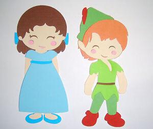Peter Pan and Wendy Paper Die Cut Paper Doll Scrapbook Embellishment