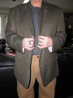 Men's Brown & Black Herringbone IZOD Sport Coat Blazer size 52 R