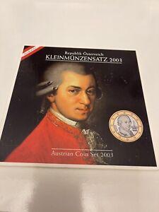 Série 8 Pièces de la 1 cent à la 2 Eur Autriche 2003