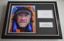 Ranulph Fiennes SIGNED FRAMED Photo Autograph 16x12 display Mount Everest & COA