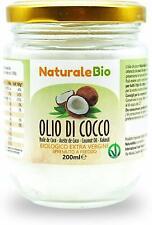 Huile de coco extra vierge 200ml - pure et pressée à froid - 100% bio - cheveux