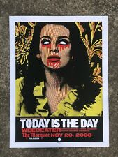 "Today Is The Day - 2008 Poster - Denny Schmickle - 18x24"" Hand Screened - TULSA"