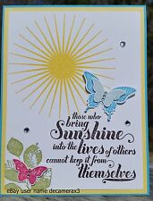 ANY OCCASION HANDMADE CARD KIT,  STAMPIN UP KINDA ECLECTIC, SUNSHINE, BUTTERFLY