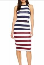 Ted Baker Yuni Rowing Stripe Bodycon Dress Size 3USA 8 NWT $195