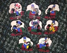 DISNEY PIN TRAIN CONDUCTOR COMPLETE MYSTERY STITCH PLUTO DONALD PINS SET/LOT