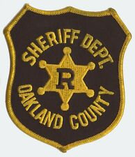 Oakland County Michigan Sheriff Department Shoulder Patch VINTAGE