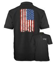 Velocitee Speed Shop Mens Polo Shirt USA America Stars And Stripes Flag A22527