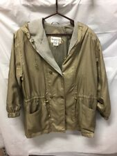 Westport Ltd Women's Gold Rain Hooded Jacket Sz L