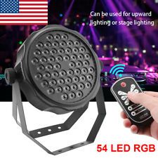 54W Stage Lights Wedding Party 54 LED Par Can DJ DMX12 RGBW Upward Lighting US