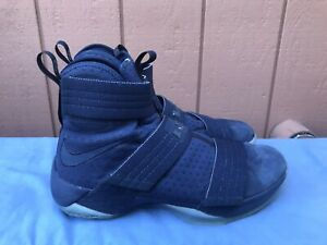 EUC Nike Lebron Soldier 10 SFG Men US 10.5 Midnight Blue 844378-444 Sneakers A8