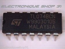 AOP TL074BCN Quad Amplificateur Opérationnel J-FET Faible bruit ST  lot de 10