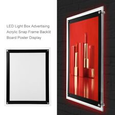 3 LED Light Box Advertising Acrylic Snap Frame Backlit Board Poster Display NEW