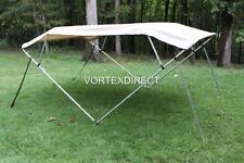 "New listing New Vortex Tan/Beige 4 Bow Pontoon/Deck Boat Bimini Top 12' long 73-78"" wide"