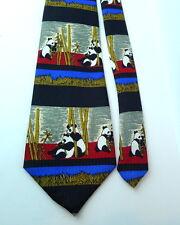 Panda Bear Bears and Bamboo NEXT Tie  Vintage Polyester