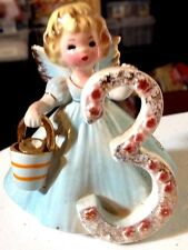 Josef's Originals Collectible Porcelain Birthday Angel Doll Figurine Three Years