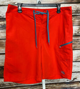 The North Face Mens Swim Trunks Board Shorts Red Size 34