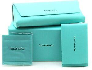 NEW TIFFANY & CO EYEGLASSES SUNGLASSES TURQUOISE BOX LEATHER CASE CLOTH  DOCKS