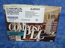 NEW Lightolier CC1000VAPLCAL Compose PLC Designer Individual Room Dimmer Almond
