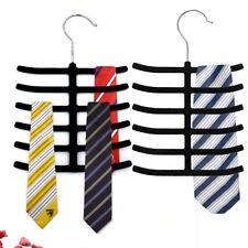 Non Slip Flocked Tie Hanger Belt/ Scarf/ Coat Hook Wardrobe Holder/Organiser