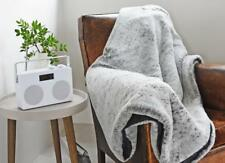 Loup Gris Grand Luxe Fourrure synthétique déco Literie Maison Canapé Throw Blanket
