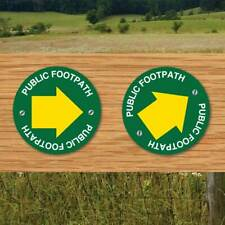 PUBLIC Footpath Arrow Sign Keep to Footpath Way marker Countryside Signs 2 PACK