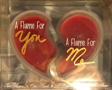 New in Package Two Piece Red Heart Valentine's Day Scented Candle, Love Flames