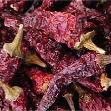 Chandru's Kashmiri Chilli Pods Whole 400g (14Oz)-Sun Dried Dark Red Color-US