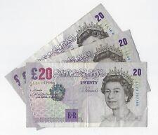 Andrew Bailey Elgar veinte libras £ 20 billete ll reemplazo B403 F-VF