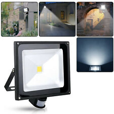 50W Flutlicht Kaltweiß LED Fluter mit PIR Bewegungsmelder Strahler Gartenlicht