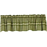 New Country Primitive RICHMOND SAGE GREEN Valance Curtain